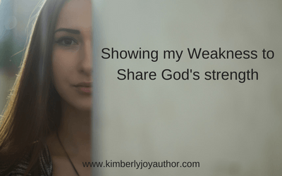 Showing my weakness to share God's strength