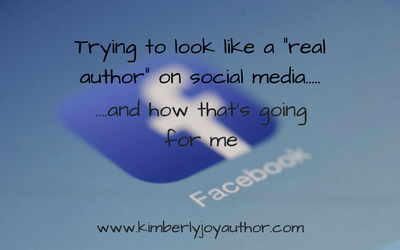 Trying to look like a real author on social media