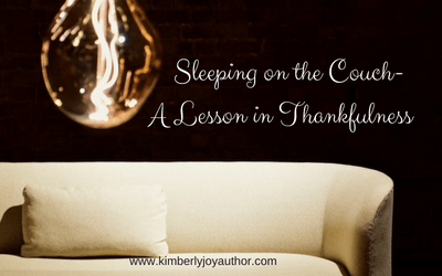 Sleeping on the couch-a lesson in thankfulness